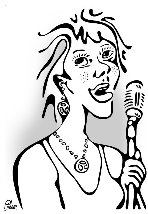 Anykiswing : chanteuse de jazz