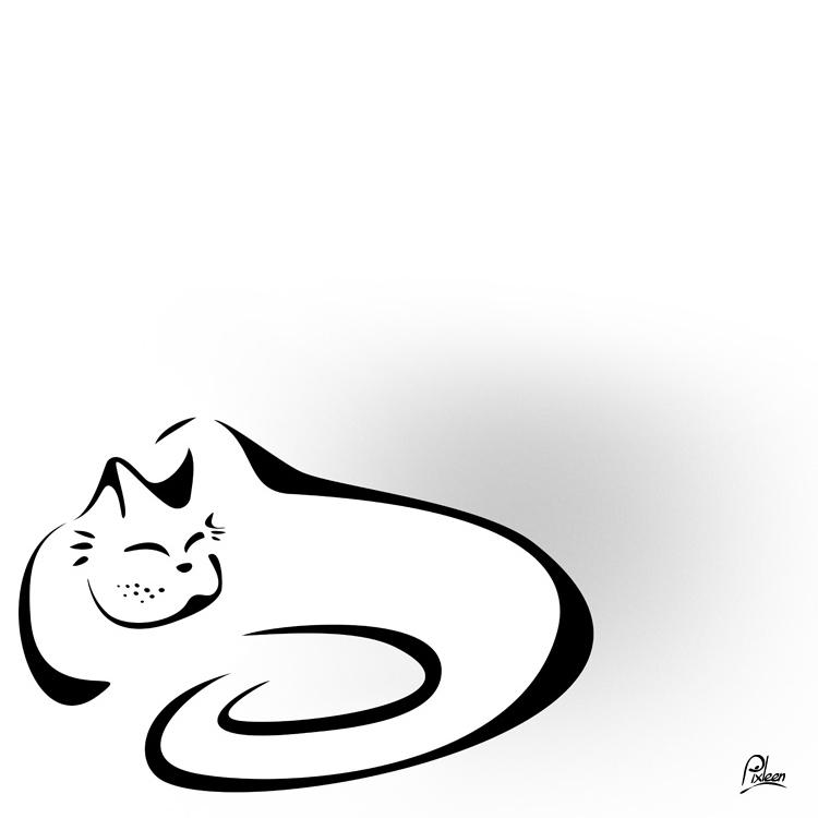 Chat enroulé