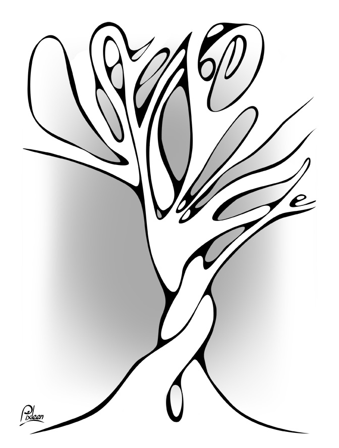 Deux arbres dansent un lent tango