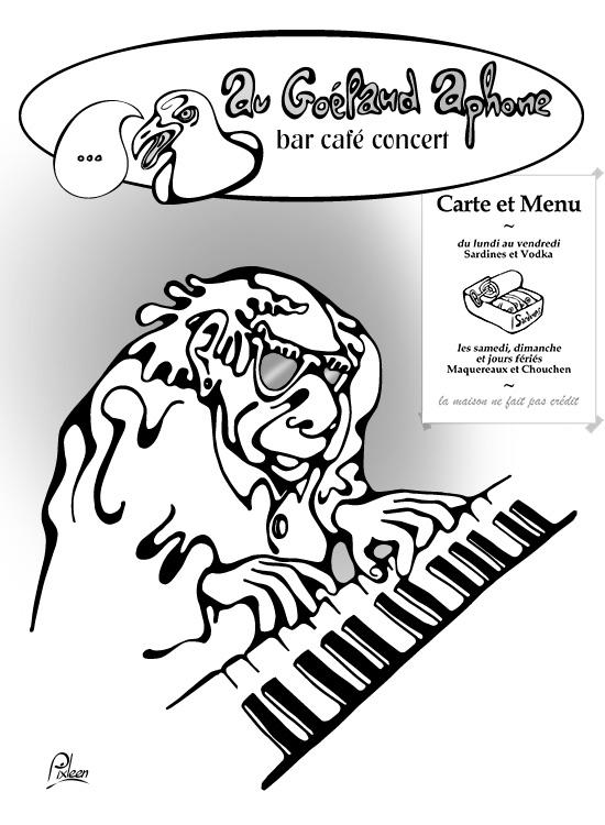 Pianiste de Jazz au Bar du Goéland Aphone